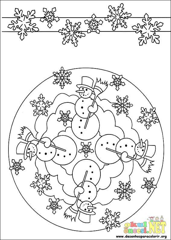 Kış Mevsimi Ile Ilgili Mandala Okul öncesi Okul öncesi