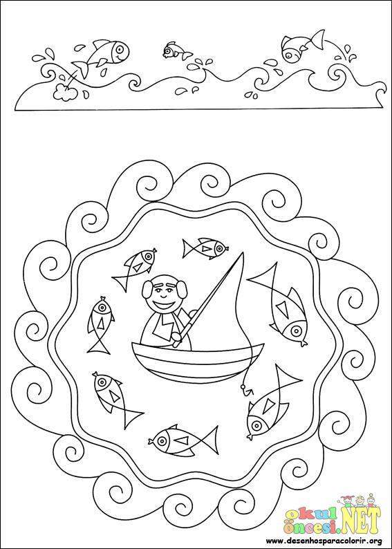 Balık Tutan Adamın Mandalası Okul öncesi Okul öncesi