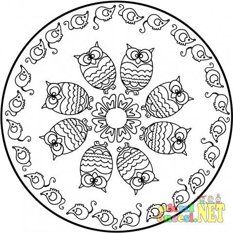 Baykuş Ile Ilgili Mandala Okul öncesi Okul öncesi Etkinlikleri