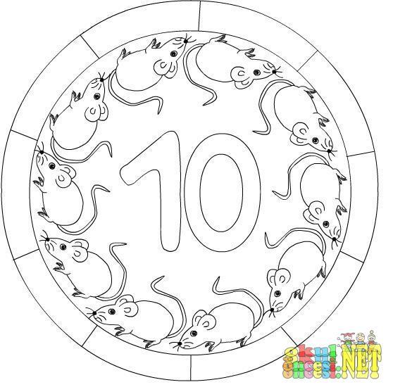 10 Sayisi Ile Ilgili Mandala Okul Oncesi Okul Oncesi