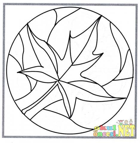 Buuk Yaprak Figurlu Mandala Okul Oncesi Okul Oncesi