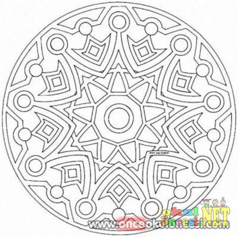 Geometrik Desenli Mandala Okul öncesi Okul öncesi Etkinlikleri