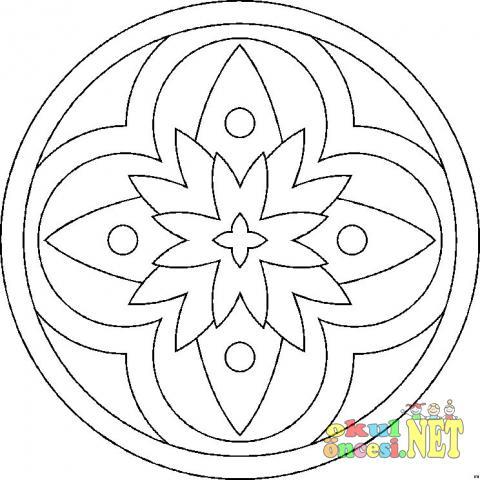 Kolay Mandala Boyaması Okul öncesi Okul öncesi Etkinlikleri