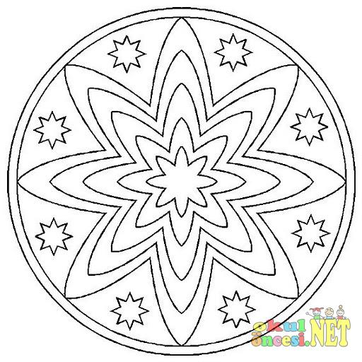 Mandala Boyama örnekleri Okul öncesi Okul öncesi Etkinlikleri