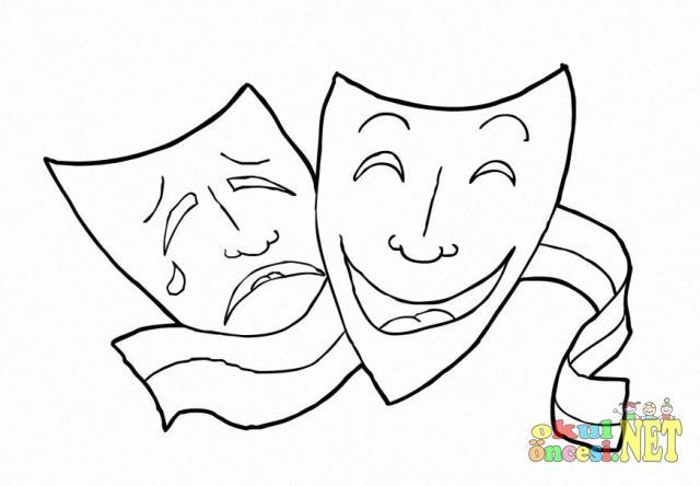 Tiyatro Boyama Sayfaları Okul öncesi Okul öncesi Etkinlikleri