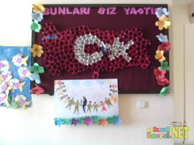 29 Ekim Cumhuriyet Bayramı Için Bayrak çalışması Okul öncesi