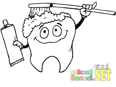 Sağlıklı Diş Boyaması Okul öncesi Okul öncesi Etkinlikleri Ana