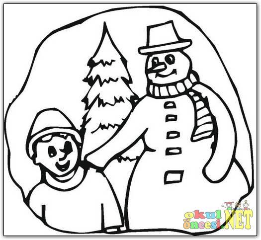 Kardan Adam Boyama Sayfası Okul öncesi Okul öncesi Etkinlikleri