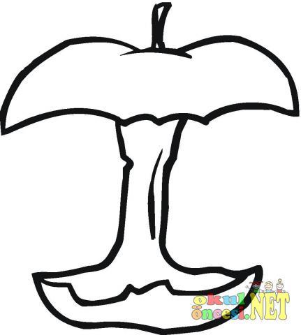 Yenmiş Bitmiş Elma Resmi Boyaması Okul öncesi Okul öncesi
