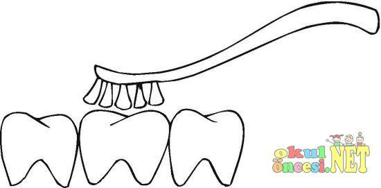 Dişler Boyama Sayfası Okul öncesi Okul öncesi Etkinlikleri Ana