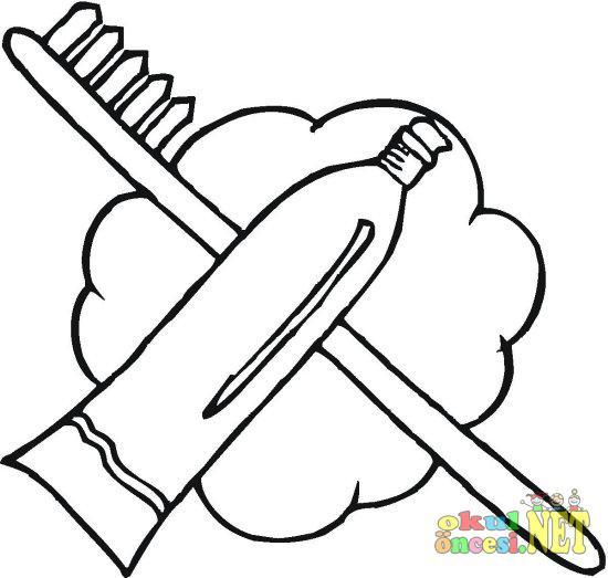 Diş Fırçası Ve Macunu Resmi Okul öncesi Okul öncesi Etkinlikleri
