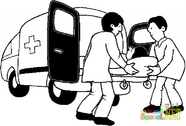 Ambulans Resmini Boyayalim Okul Oncesi Okul Oncesi