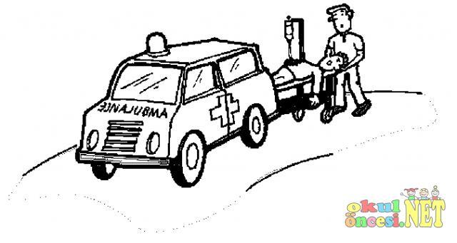 Ambulans Resmi Okul Oncesi Okul Oncesi Etkinlikleri Ana Okulu