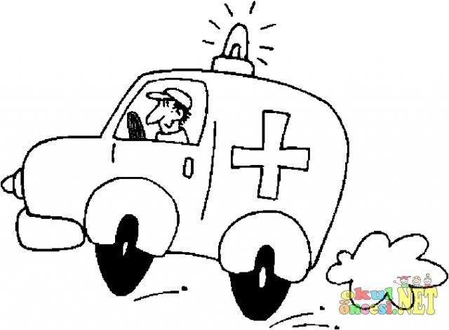 Ambulans Boyama Sayfasi Ornegi Okul Oncesi Okul Oncesi