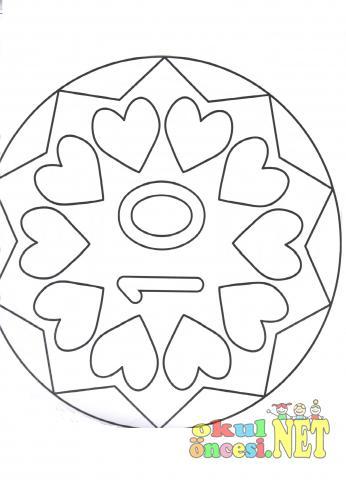 10 Tane Kalpli Mandala Okul öncesi Okul öncesi Etkinlikleri
