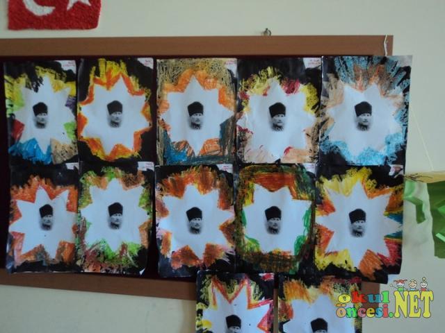 şablon Baskı Atatatürk Resmimiz Okul öncesi Okul öncesi