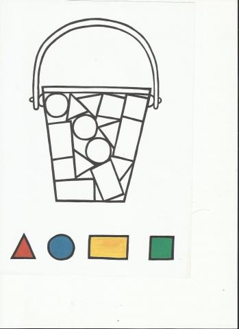 Geometrik şekilleri Boyama Okul öncesi Okul öncesi Etkinlikleri