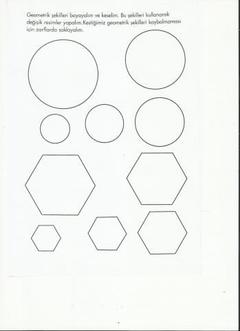 Geometrik Sekilleri Boyama Okul Oncesi Okul Oncesi