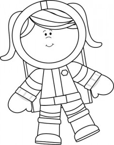 Acog43 Hd Free Astronaut Clipart Outline Gingerbread Pack 5177