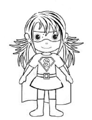 coloring pages superheroes womens costumes - photo#14