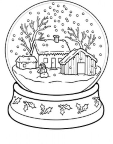Kar Küresi Boyama Okul öncesi Okul öncesi Etkinlikleri Ana Okulu