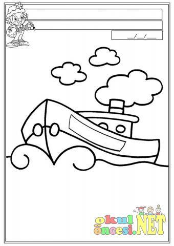 Gemi Boyama Okul öncesi Okul öncesi Etkinlikleri Ana Okulu