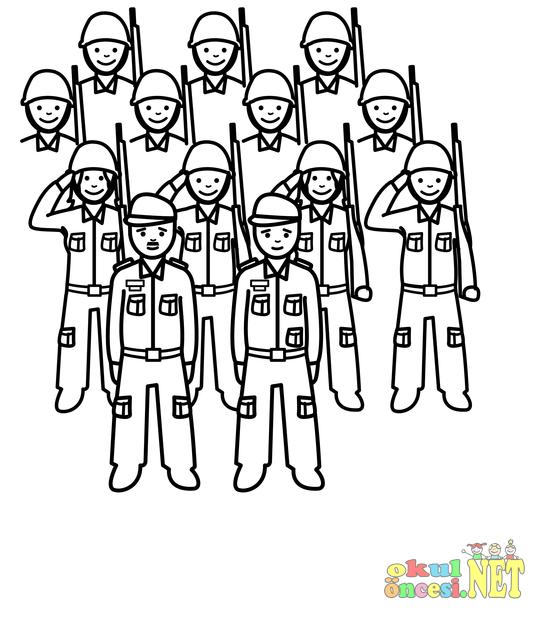 Asker Boyamaları Okul öncesi Okul öncesi Etkinlikleri Ana Okulu