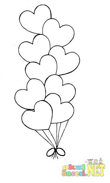 Balon Resmi Boyama Okul Oncesi Coloring Free To Print