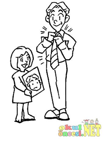Babalar Günü Için Boyama Okul öncesi Okul öncesi Etkinlikleri