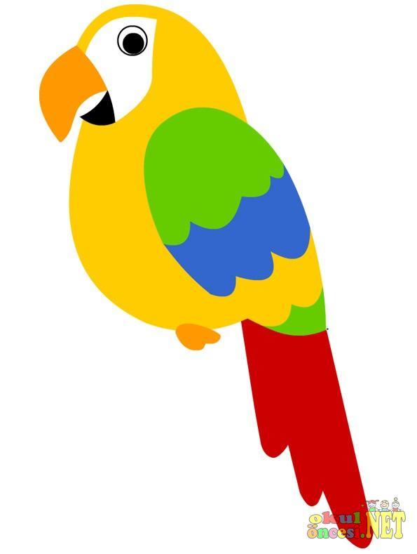 Papağan Kalıplı Okul öncesi Okul öncesi Etkinlikleri Ana Okulu