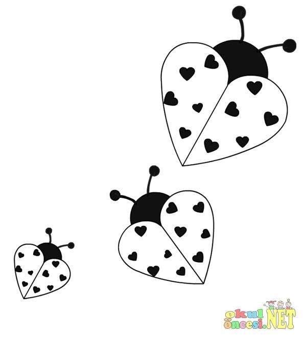 Uğur Böceği Boyamaları Okul öncesi Okul öncesi Etkinlikleri