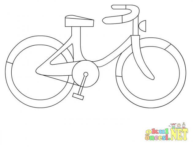 Bisiklet Ve Deniz Botu Boyama Okul öncesi Okul öncesi