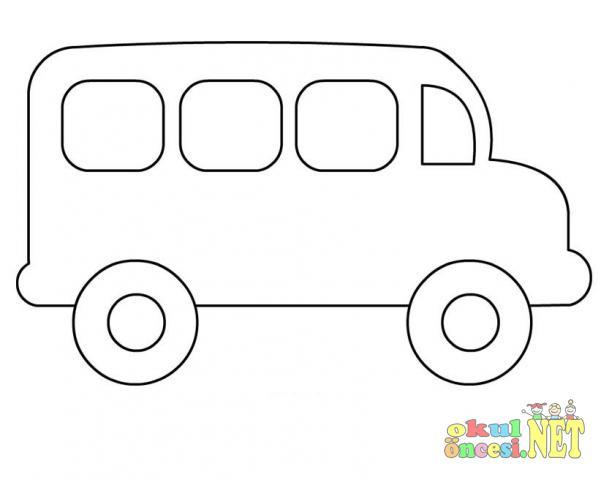 Otobüs Boyama Okul öncesi Okul öncesi Etkinlikleri Ana Okulu
