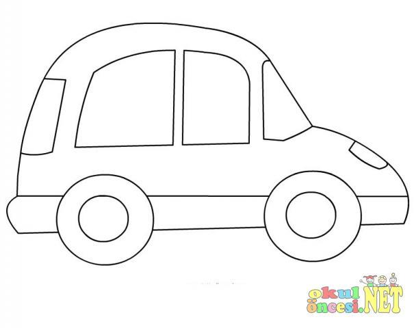 Araba Boyama Okul öncesi Okul öncesi Etkinlikleri Ana Okulu
