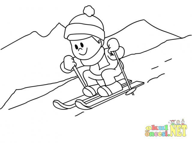 Kış Mevsimi Boyama Okul öncesi Okul öncesi Etkinlikleri Ana Okulu