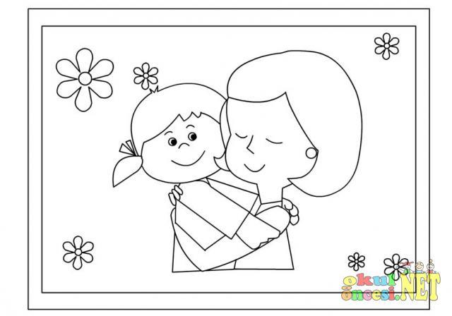 Anneler Günü Boyama Okul öncesi Okul öncesi Etkinlikleri Ana Okulu