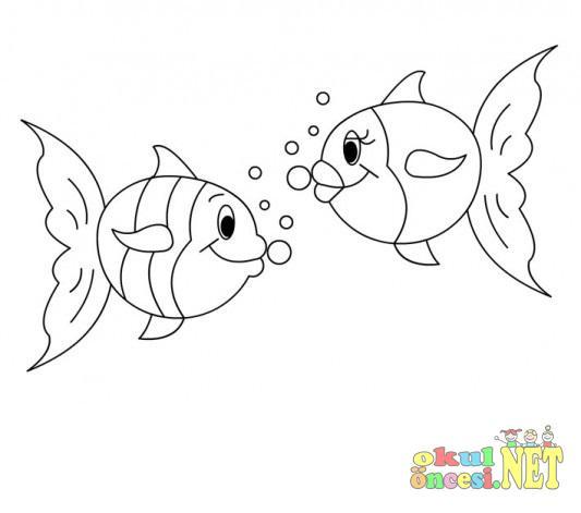 Balık Boyama Okul öncesi Okul öncesi Etkinlikleri Ana Okulu