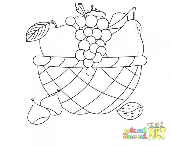 Meyve Sepeti Boyama Sayfası Gazetesujin