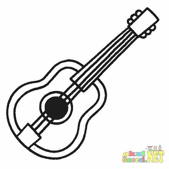 Müzik Aletleri Boyama Okul öncesi Okul öncesi Etkinlikleri Ana