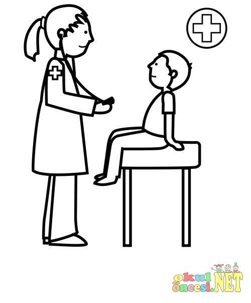 Doktor Boyama Okul öncesi Okul öncesi Etkinlikleri Ana Okulu