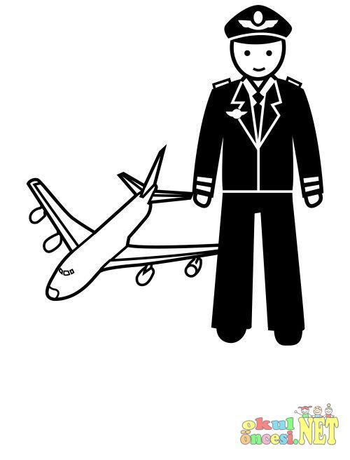 Hostes Ve Pilot Boyama Okul Oncesi Okul Oncesi Etkinlikleri