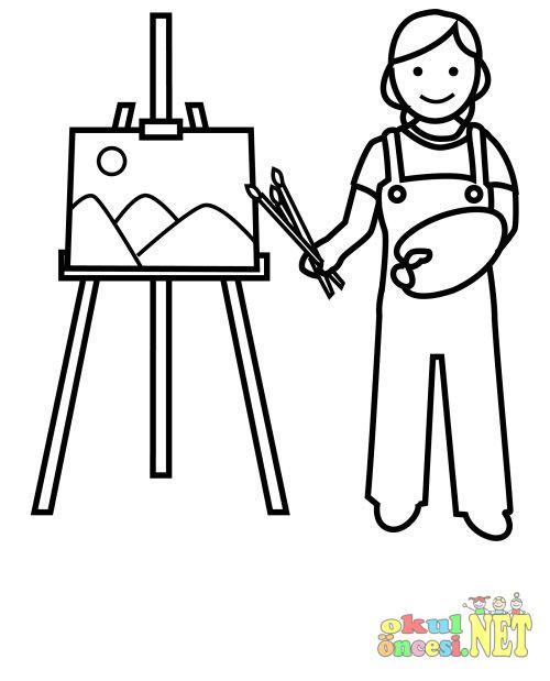 Ressam Boyama Okul öncesi Okul öncesi Etkinlikleri Ana Okulu