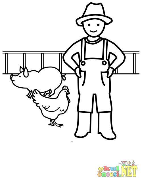 çiftçi Boyama Okul öncesi Okul öncesi Etkinlikleri Ana Okulu