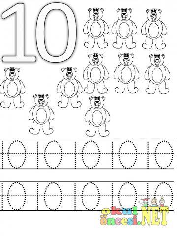 Best Okul öncesi 10 Rakamı çalışması Image Collection