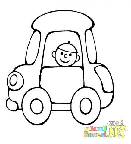 Araba Boyama Sayfalari Okul Oncesi Okul Oncesi Etkinlikleri