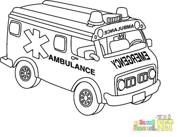 Ambulans Boyama Sayfalari Okul Oncesi Okul Oncesi Etkinlikleri