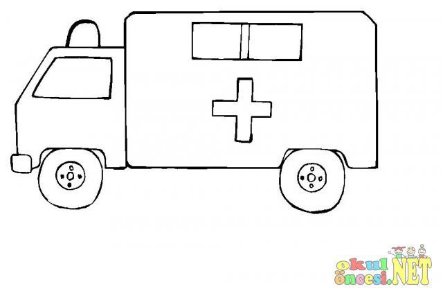 Ambulans Boyama Sayfaları Okul öncesi Okul öncesi Etkinlikleri