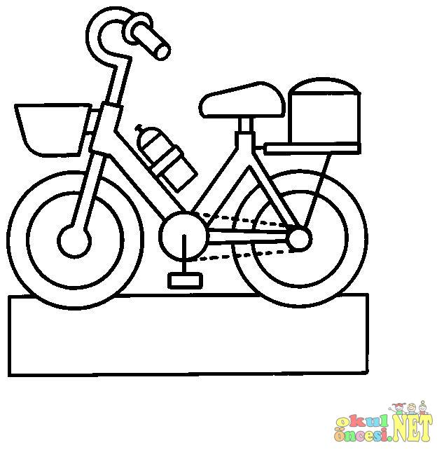 Bisiklet Boyama Okul öncesi Okul öncesi Etkinlikleri