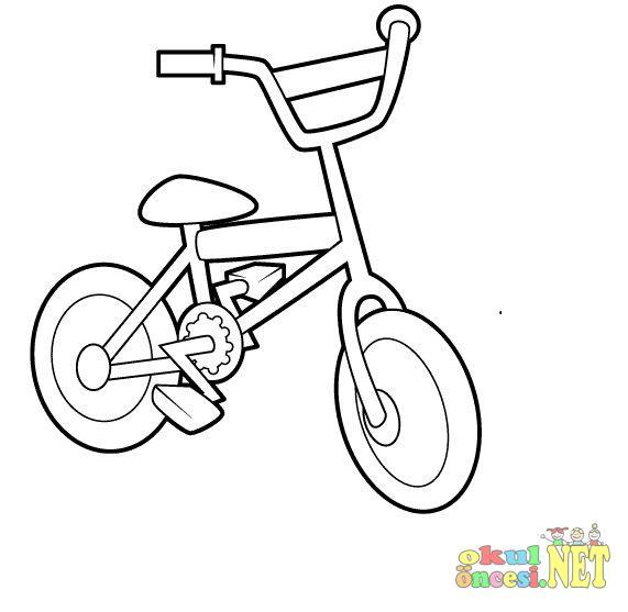 Bisiklet Boyama Okul öncesi Okul öncesi Etkinlikleri Ana Okulu