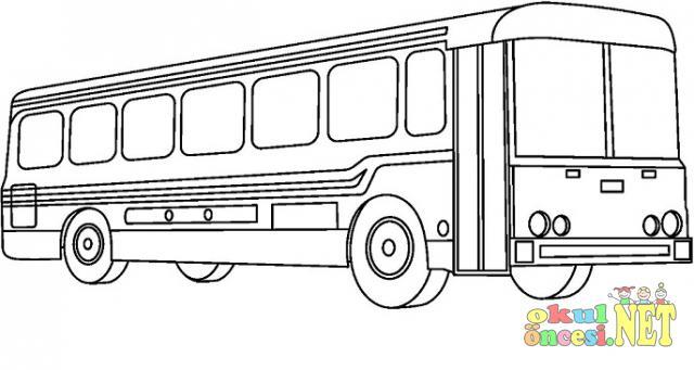 Otobüs Boyama Resmi